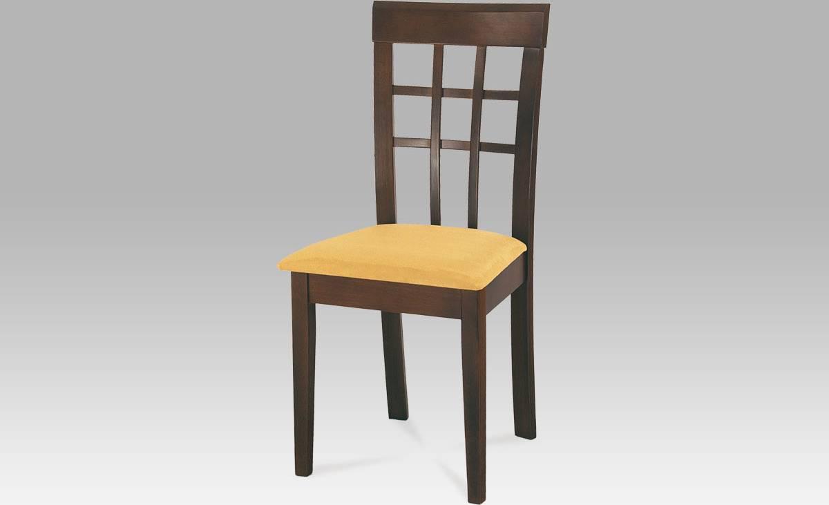 Jídelní židle BEZ SEDÁKU, barva ořech BE1604 WAL Art