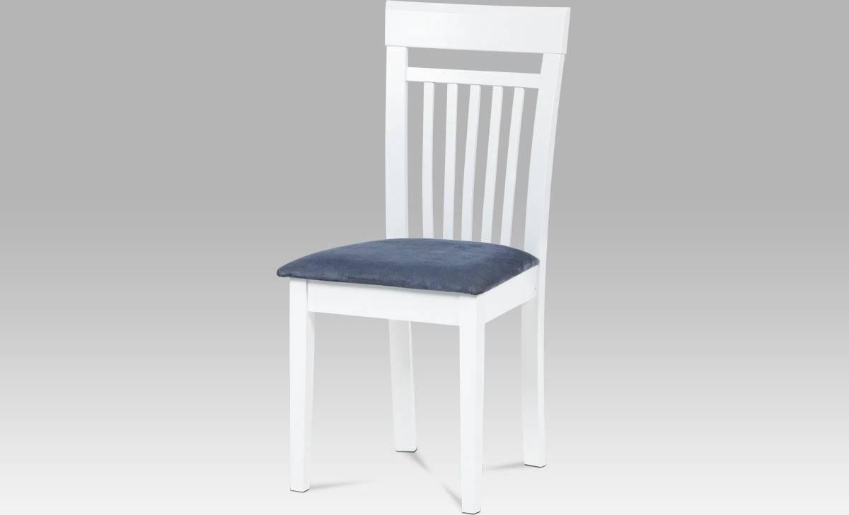 Jídelní židle BEZ SEDÁKU, bílá BE1607 WT Art