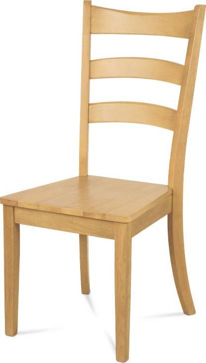 Jídelní židle celodřevěná, barva bělený dub C-191 OAK1 Art