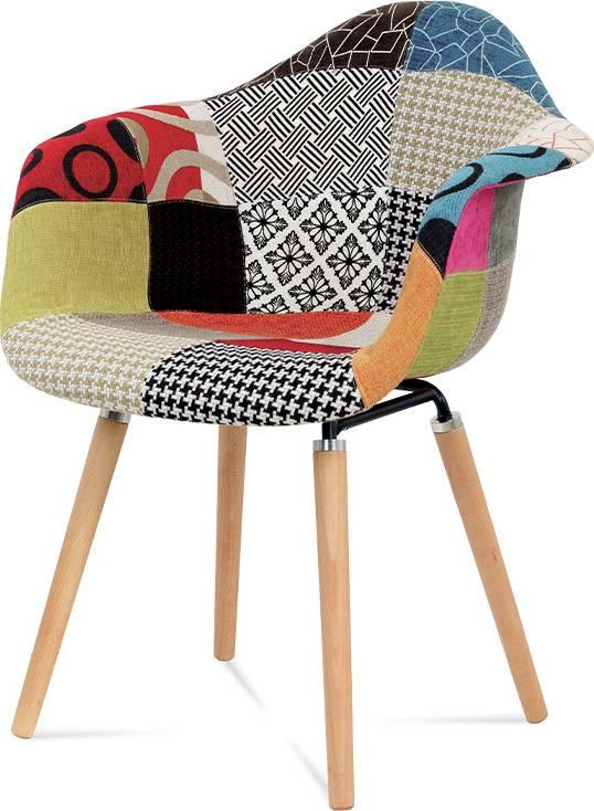 Jídelní židle patchwork / masiv buk CT-723 PW2 Art