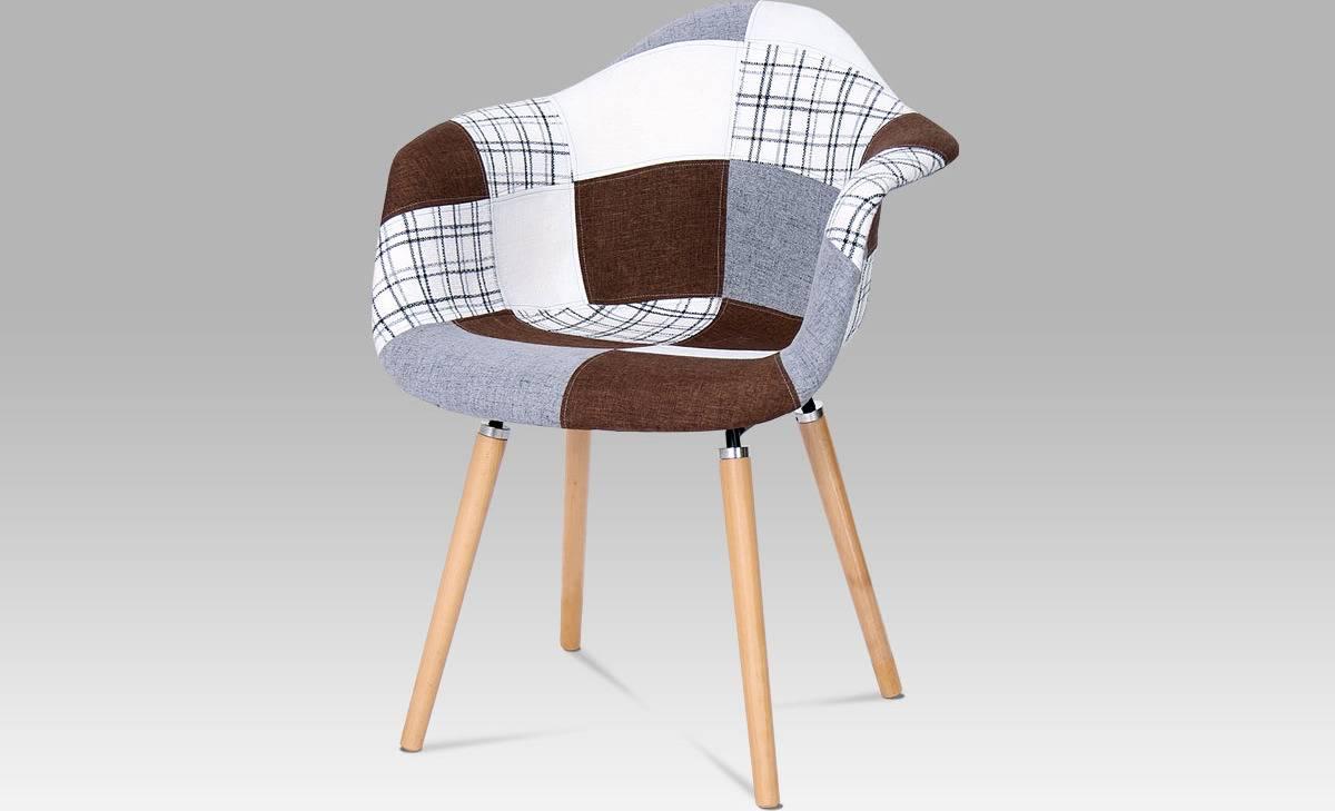 Jídelní židle patchwork / masiv buk CT-726 PW2 Art