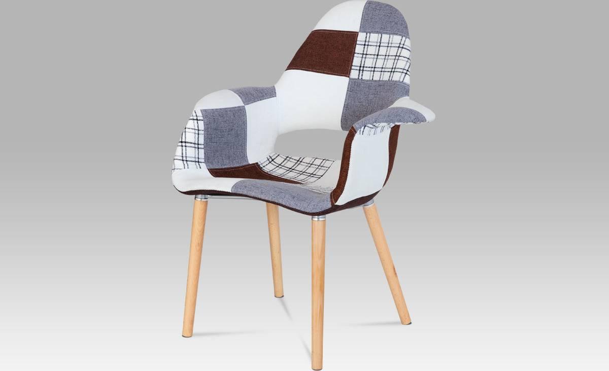 Jídelní židle patchwork / natural CT-734 PW2 Art