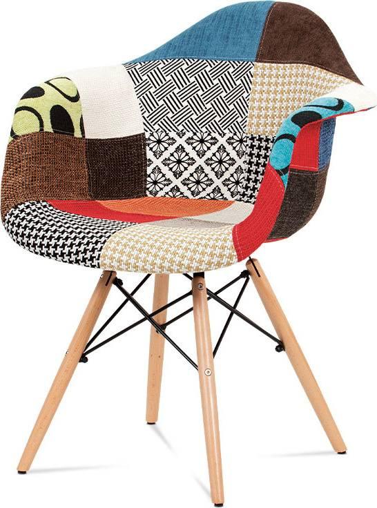 Jídelní židle, patchwork / masiv buk CT-755 PW2 Art