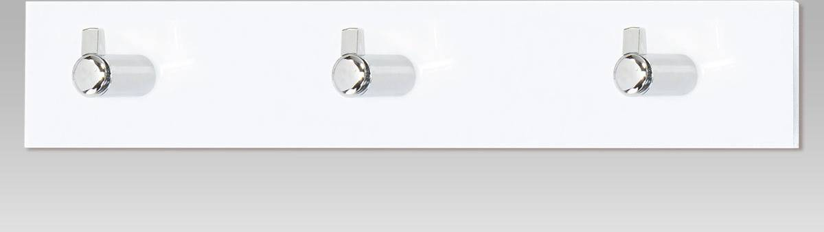 Nástěnný věšák - 3 háčky, bílý akrylát / chrom GC3503-3 WT Art