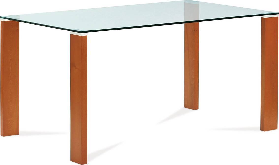 Jídelní stůl 150x90 cm, barva třešeň / sklo BT-6750 TR2 Art