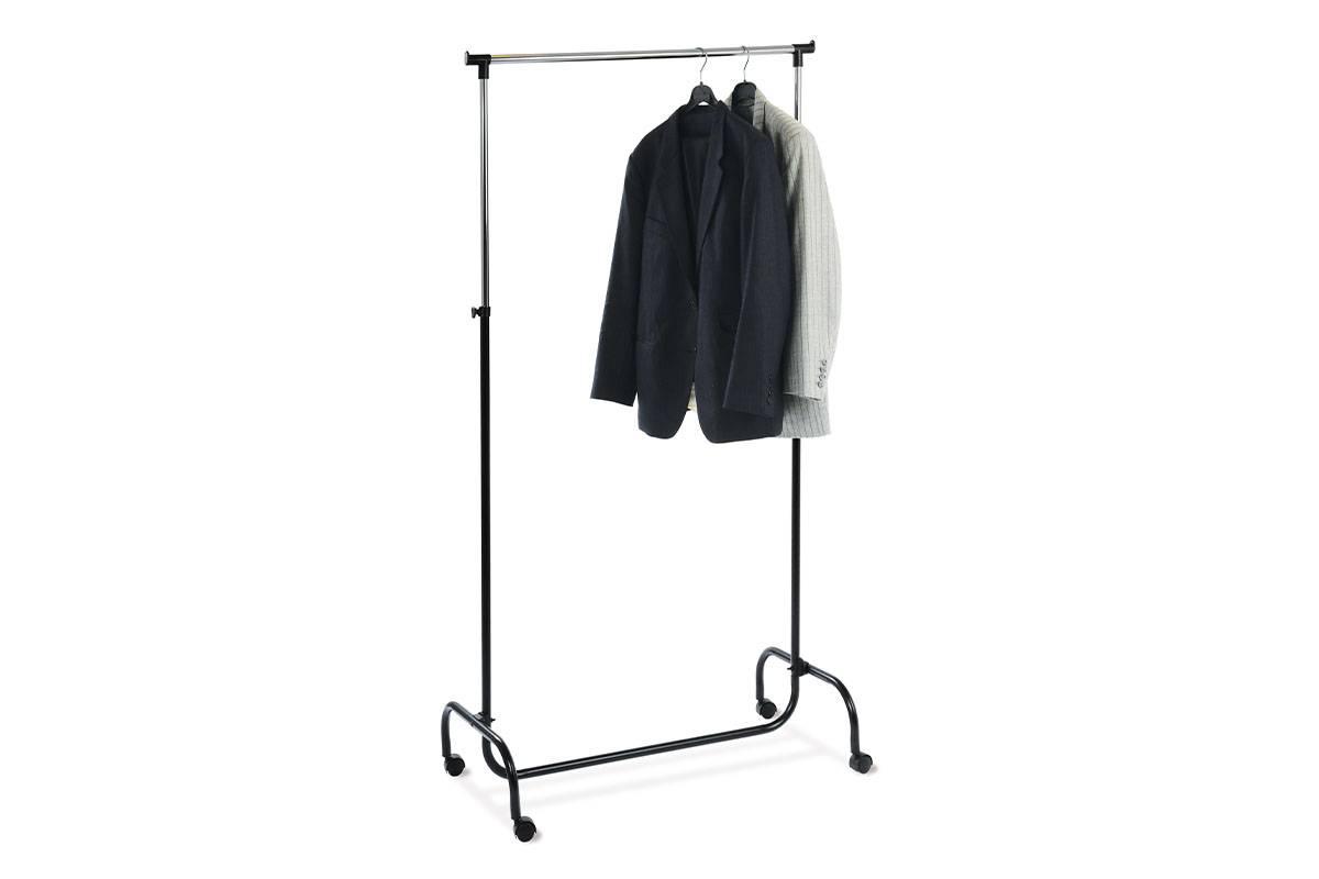 stojan na šaty,chrom/černá EP94741