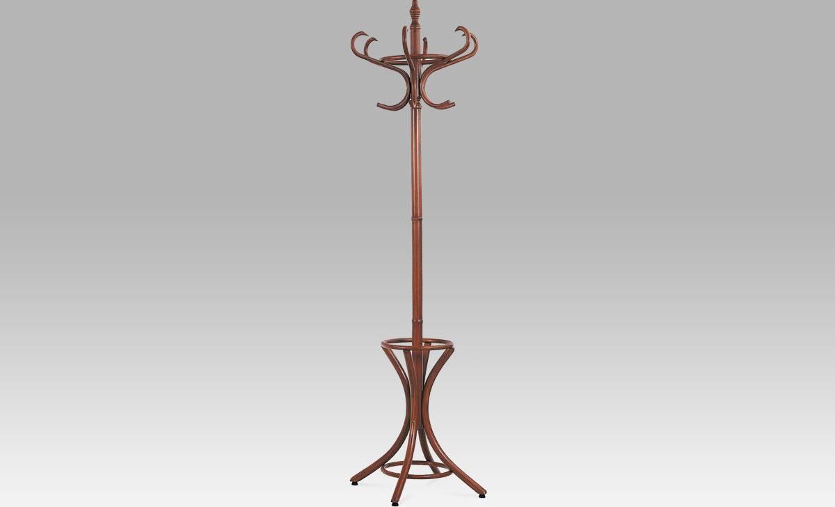 Věšák dřevěný - barva tm. hnědá,  v. 186 cm F-2058 BR Art