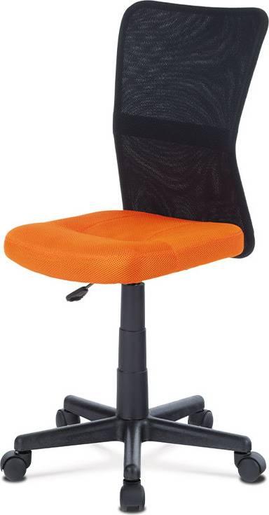 Kancelářská židle, oranžová mesh, plastový kříž, síťovina černá KA-2325 ORA Art