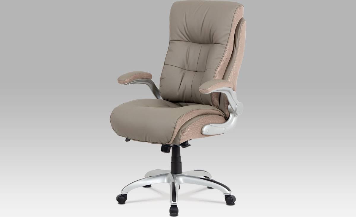Kancelářská židle, lankový mech., lanýžová koženka + MESH, plast. kříž KA-A176 LAN Art