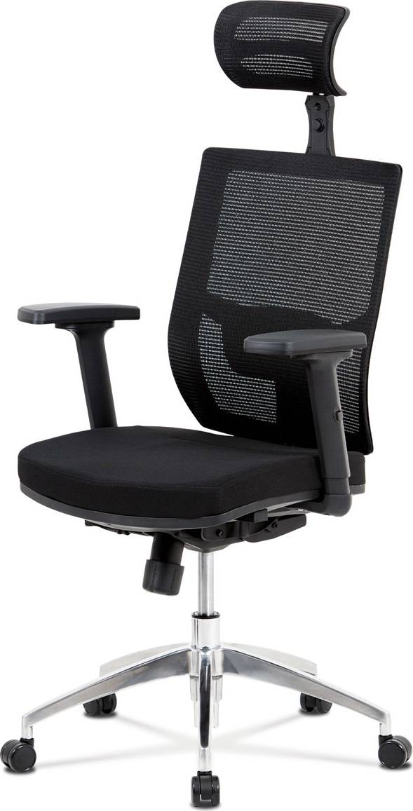 Kancelářská židle, synchronní mech., černá látka, kovový kříž KA-B1083 BK Art