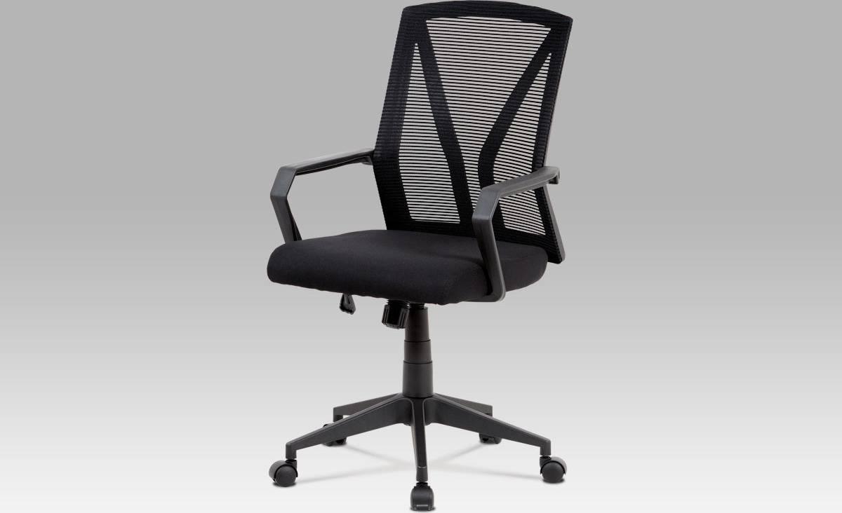 Kancelářská židle, černá mesh, plastový kříž, houpací mechanismus KA-C853 BK Art
