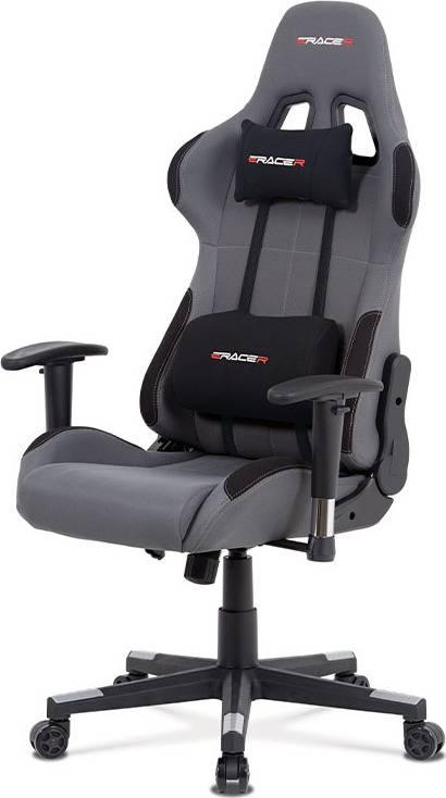Kancelářská židle houpací mech., šedá + černá látka, plast. kříž KA-F05 GREY Art