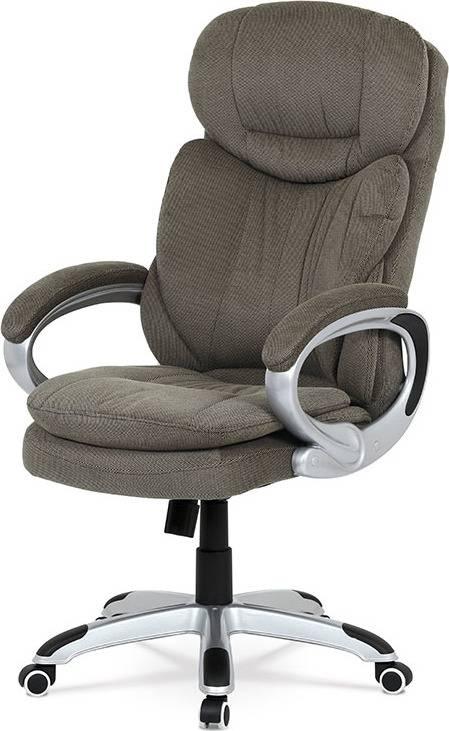Kancelářská židle, houpací mech., šedá látka, plast. kříž KA-G198 GREY2 Art