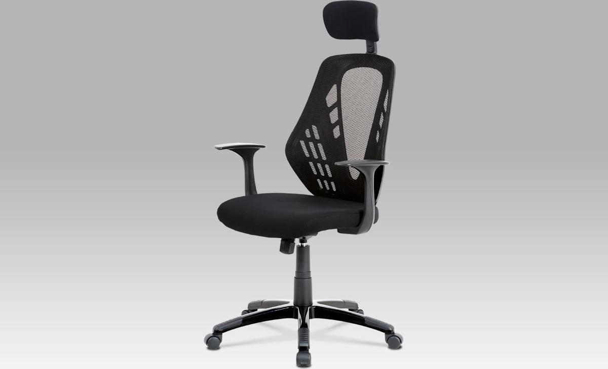 Kancelářská židle, houpací mech., černá, plastový kříž KA-K105 BK Art