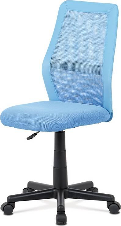Kancelářská židle, modrá MESH + ekokůže, výšk. nast., kříž plast černý KA-V101 BLUE Art