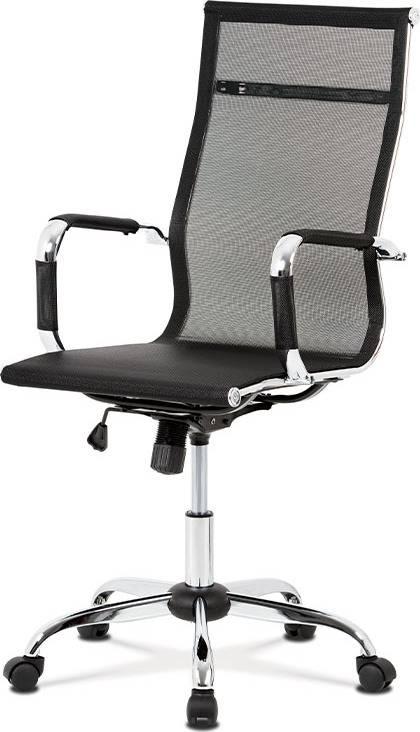 Kancelářská židle, černá MESH síťovina, houpací mech, kříž chrom KA-V303 BK Art