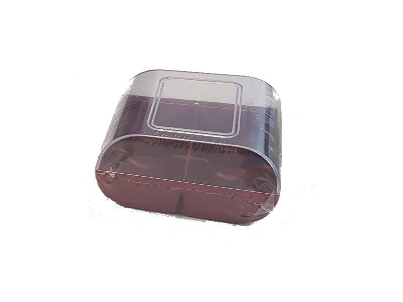 Plastová krabička na sušenky tmavě červená - Silikomart