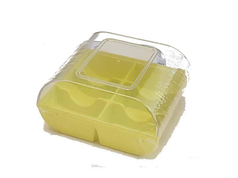 Plastová krabička na sušenky žlutá - Silikomart