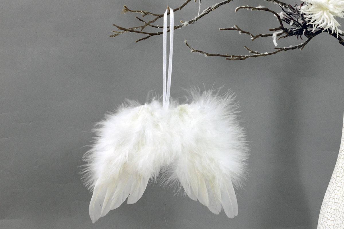 Autronic Andělská křídla z peří , barva bílá, baleno 1 ks v polybag. Cena za 1 ks.