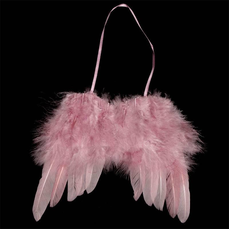 Andělská křídla z peří , barva růžová,  baleno  1 ks v polybag. Cena za 1 ks. AK6110-PINK Art