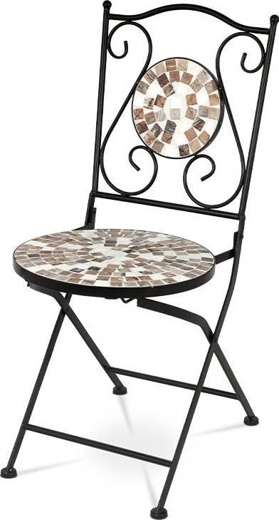 Židle kovová s mozajkou - stejnou jako je u stolu JF2206 JF2207 Art