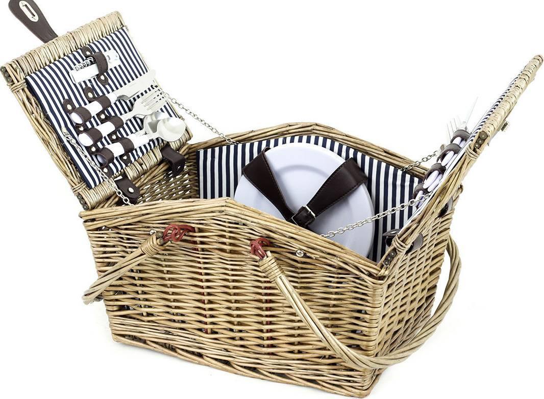 Piknikový koš z vrbového proutí, vybavený pro 4 osoby PN-1530 Art