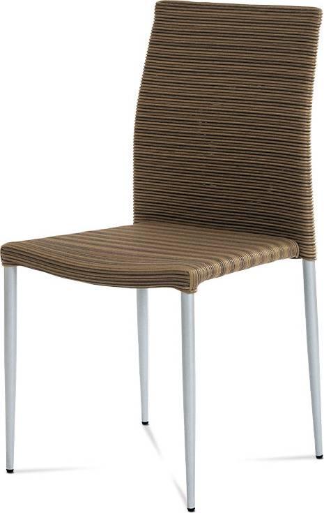 Židle alu / umělý ratan, stohovatelná SOF039 Art