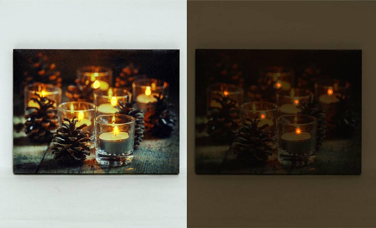 Nástěnný obraz, svíticí - LED, zimní motiv BD501 Art