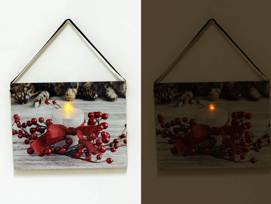 Nástěnný obraz, svíticí - LED, zimní motiv BD520 Art