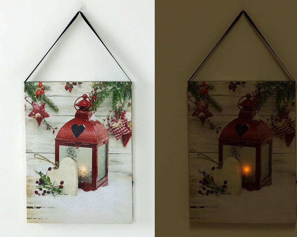 Nástěnný obraz, svíticí - LED, zimní motiv BD524 Art