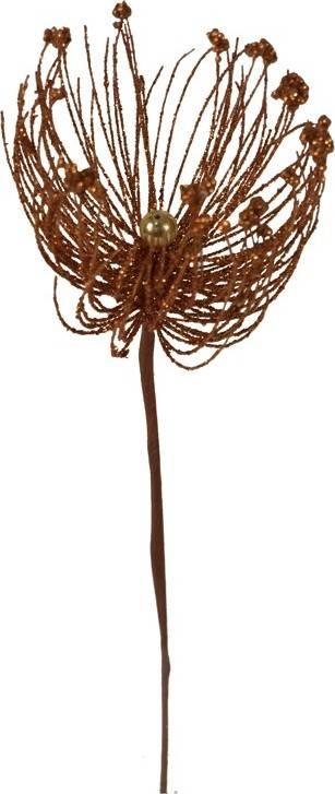 Vánoční plastová větev - barva měděná. DEG482985-COP Art