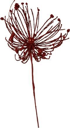 Vánoční plastová větev - barva červená. DEG482985-RED Art