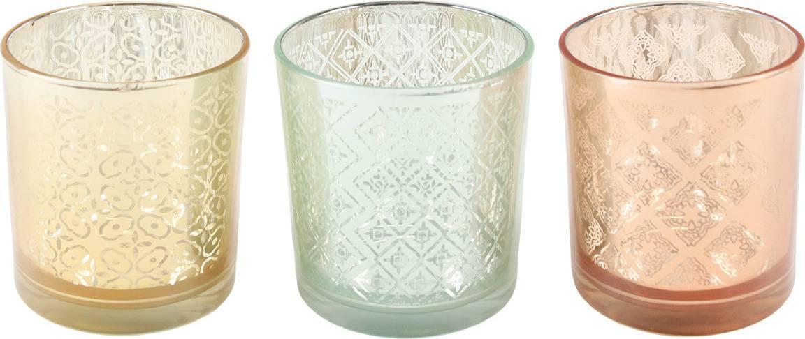 Sada 3 skleněných svícnů v PVC krabičce KLA101 Art