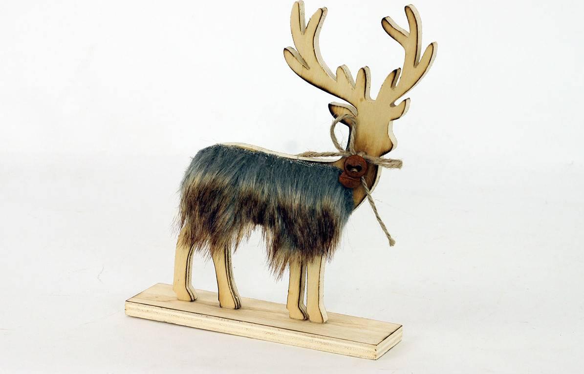 Sob dekorační dřevěný s umělým plyšem KLA354 Art