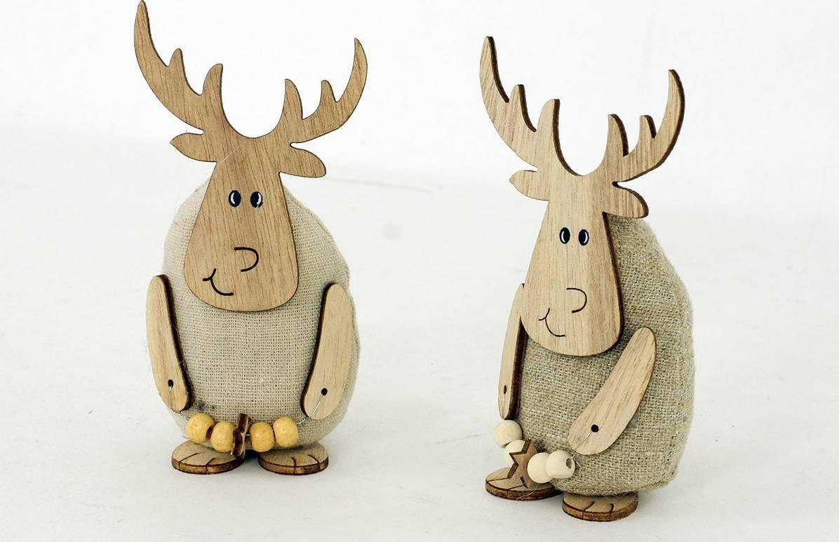 Sob dekorační dřevěný a textilní. Cena za 1ks. KLA373 Art