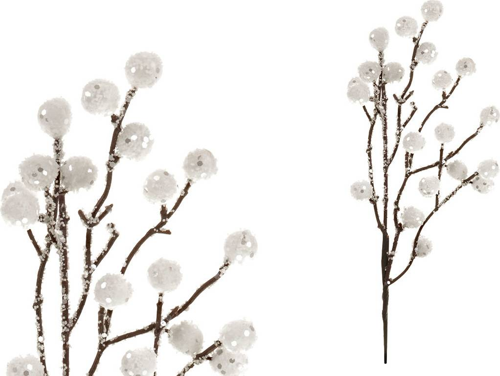 Větvička bílá, umělá dekorace PRZ2810 Art
