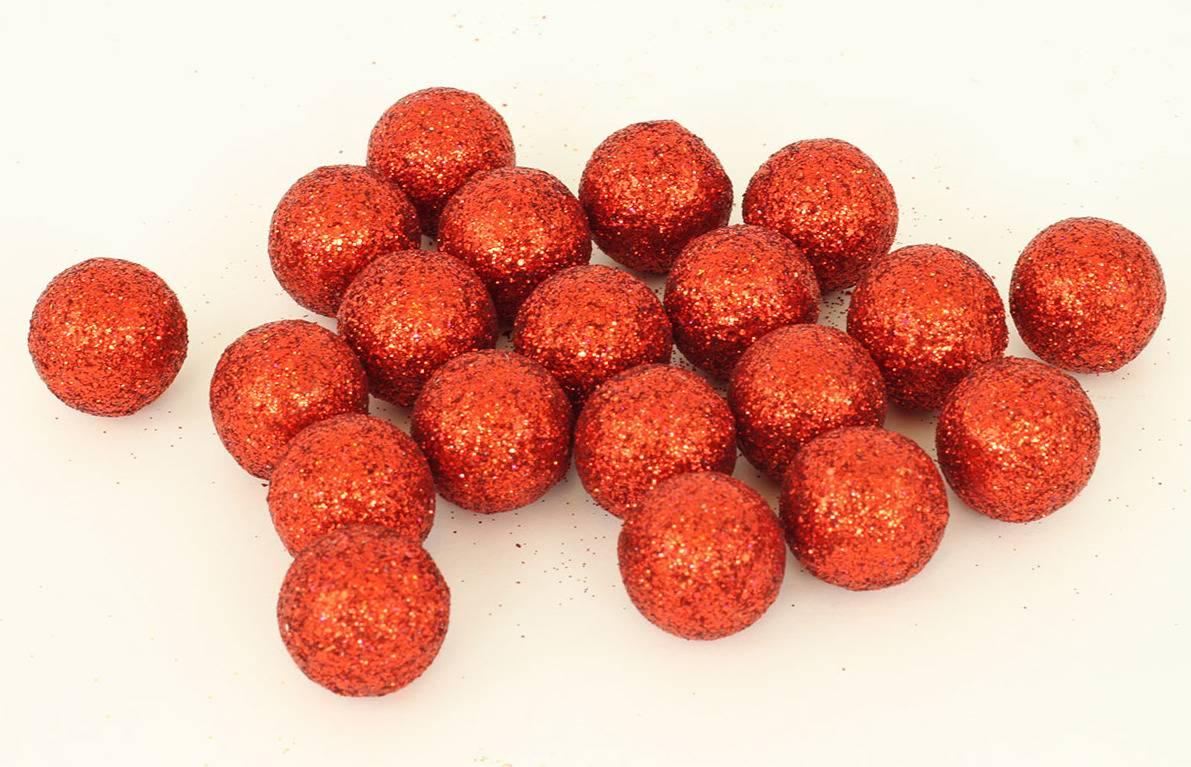 Vánoční dekorační koule červená, cena za 1 polybag PRZ719654 Art