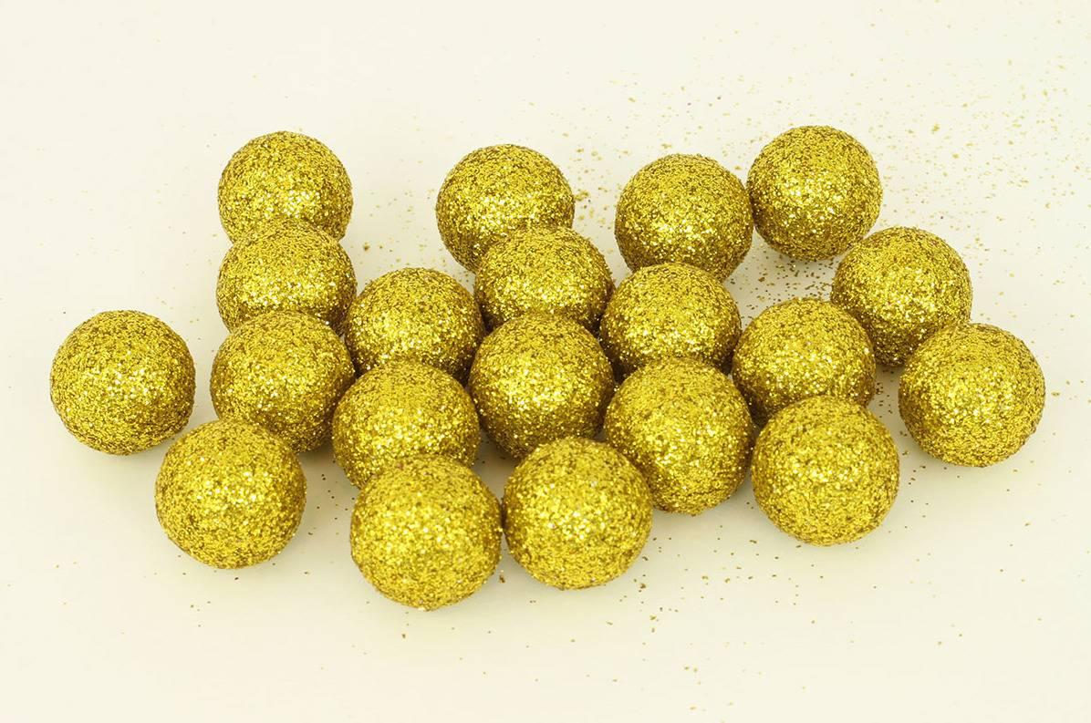 Vánoční dekorační koule zlatá, cena za 1 polybag PRZ719685 Art