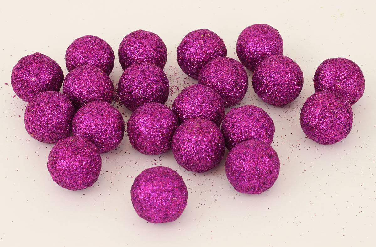 Vánoční dekorační koule fialová, cena za 1 polybag PRZ719692 Art