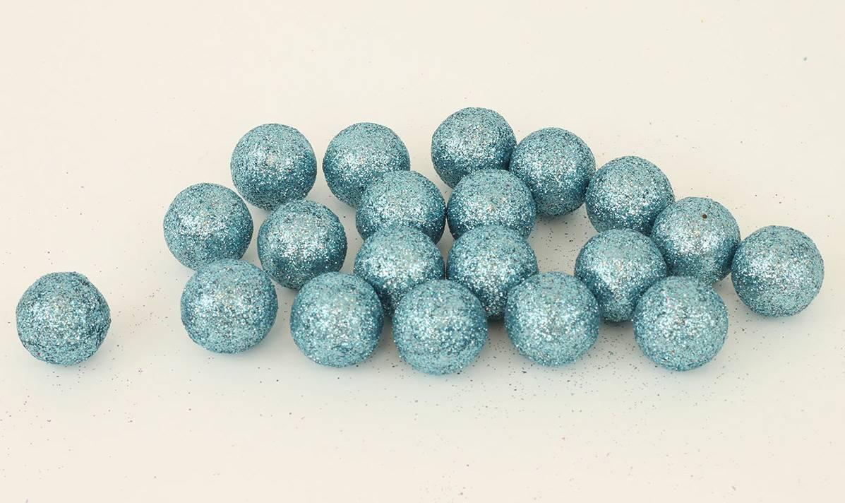 Vánoční dekorační koule modrá, cena za 1 polybag PRZ719715 Art