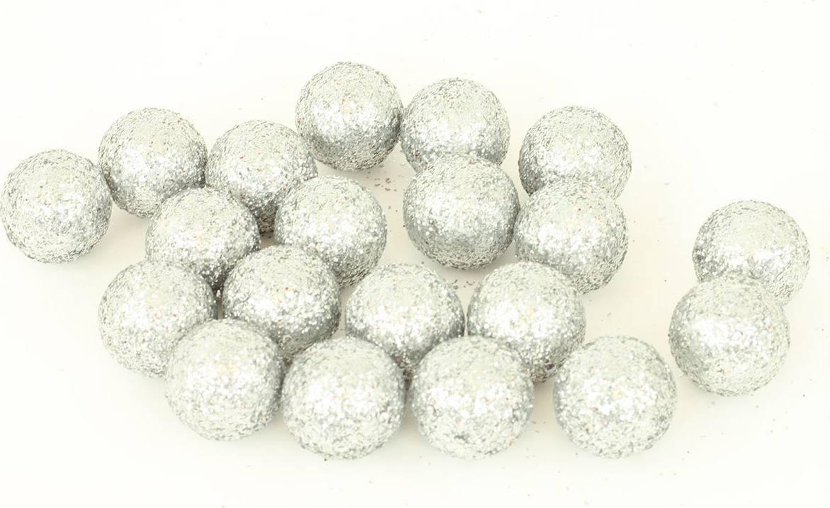 Vánoční dekorační koule - bílá, cena za 1 polybag PRZ719814 Art