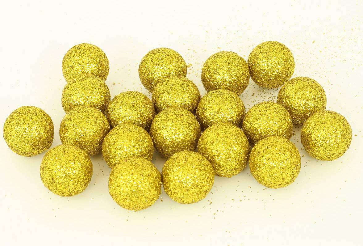 Vánoční dekorační koule zlatá. Cena za 1 polybag PRZ719869 Art