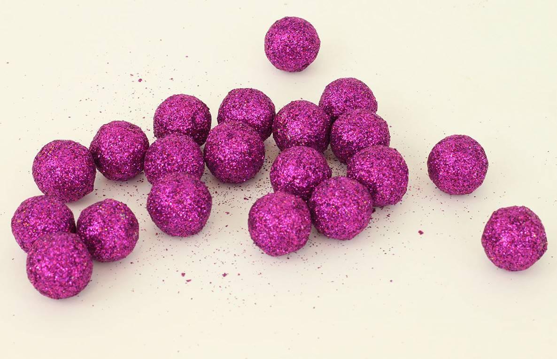 Vánoční dekorační koule fialová. Cena za 1 polybag PRZ719876 Art