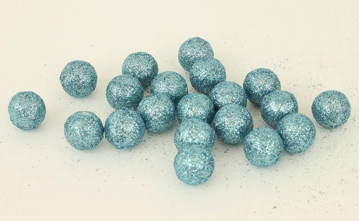 Vánoční dekorační koule modrá, cena za 1 polybag PRZ719890 Art