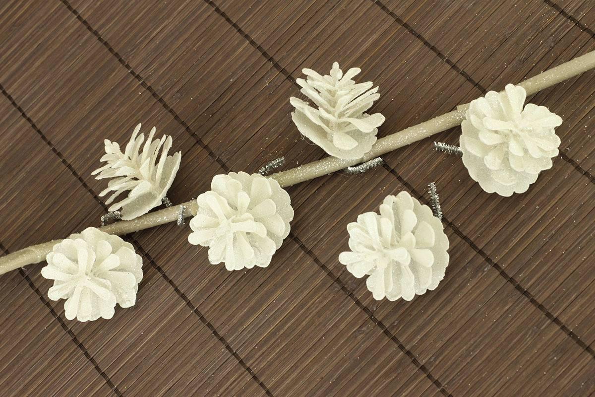 Šiška bílá dekorační z plastu, cena za 6 kusů/1 sáček VCA025 WH Art