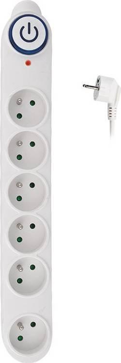 přepěťová ochrana, 150J, 6 zásuvek, 1,5m, bílá PO62 Solight