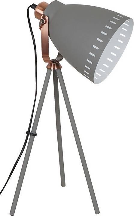 stolní lampa Torino, trojnožka, 52cm, E27, šedá WA002-G Solight