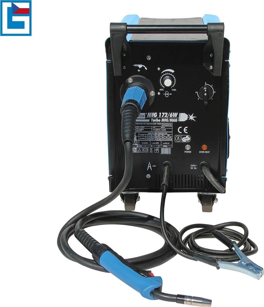 Svářečka MIG 172/6 W pro svařování v ochranné atmosféře 20074 GÜDE