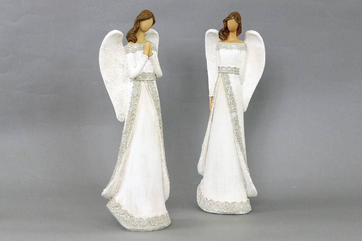Anděl, polyresinová dekorace, barva bílá AND122 Art