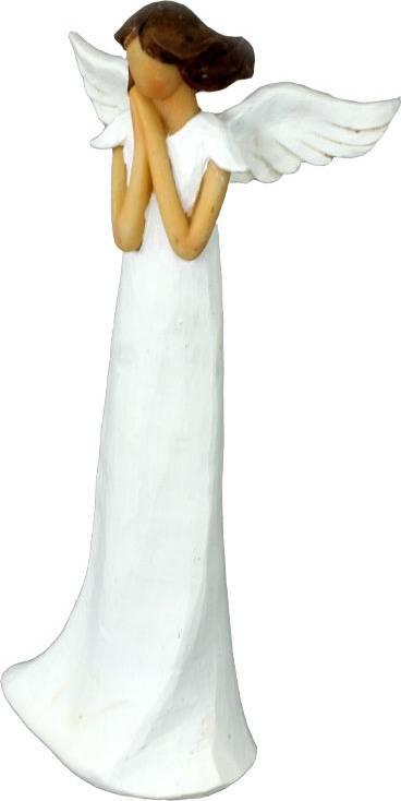 Anděl, polyresinová dekorace, barva bílá AND150 Art